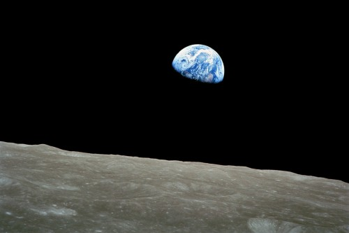 Earthrise taken by Apollo 8