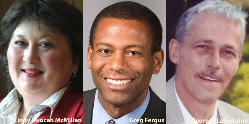 Reported candidates for the Pontiac Liberal nomination: Cindy Duncan McMillan, Greg Fergus, Georges Lafontaine