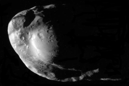 Cassini image of Saturn's moon Prometheus on January 27, 2010